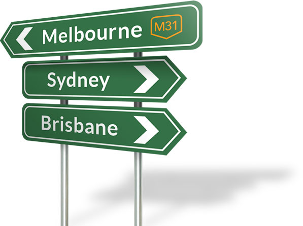 Image result for brisbane melbourne sign